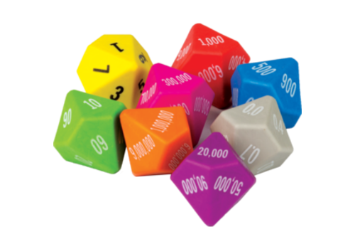 Teacher Created Resources Place Value Dice - set of 8