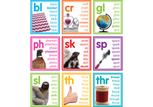 Teacher Created Resources Colorful Photo Cards - Blends and Diagraphs
