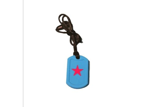 Munching Monster Chewlery Dog Tag Pendant Blue*