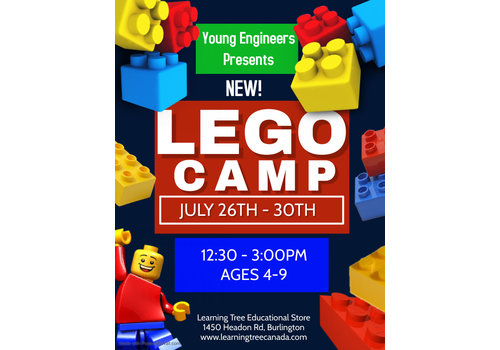 Young Engineer LEGO Bricks! Summer Camp PM - July 26-30 *