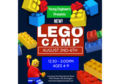 NEW! Young Engineer LEGO Bricks! Summer Camp PM - AUG 2-6*