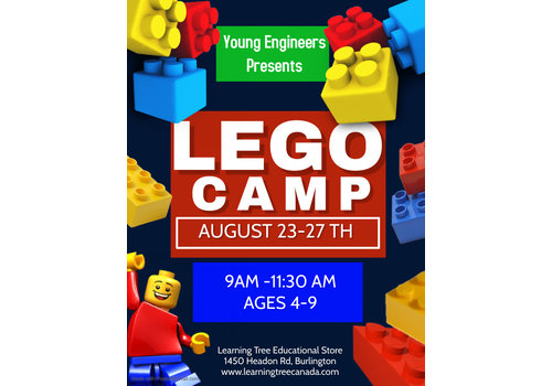 Young Engineer LEGO Bricks! Summer Camp - Aug 23-27 *  AM SESSION