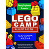 NEW! Young Engineer LEGO Bricks! Summer Camp PM - AUG 9-13*