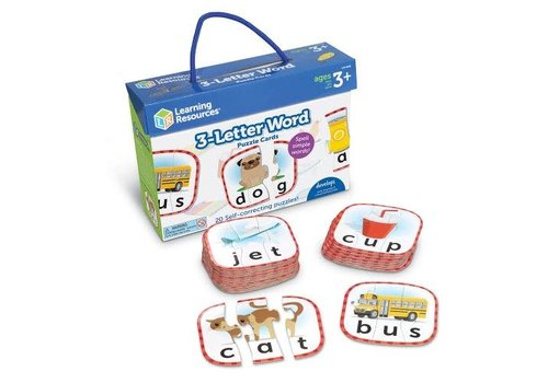 Learning Resources 3-Letter Word Puzzle Cards *