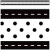 Teacher Created Resources Black & White Stitch 'n' Dots Straight Border Trim *