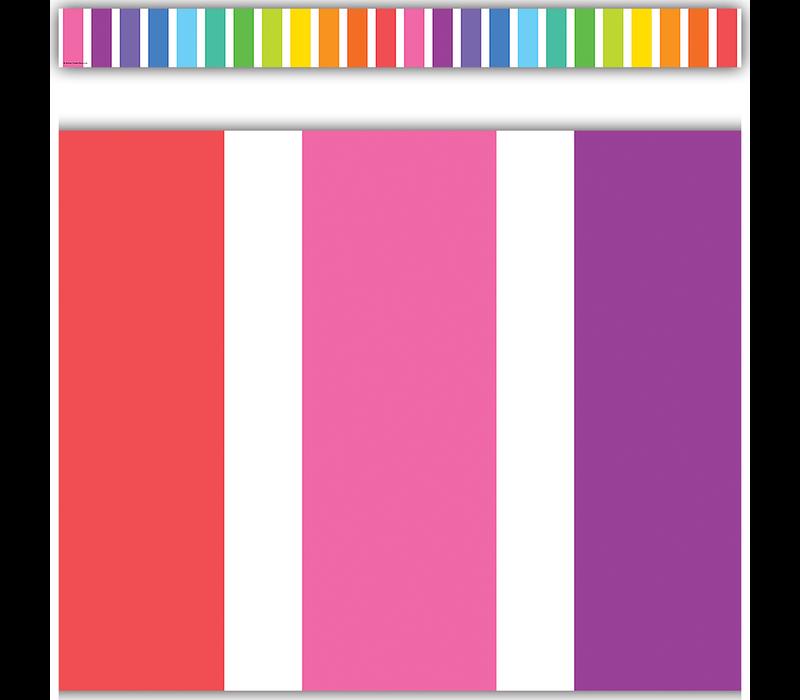 Colorful Stripes Straight Border Trim *