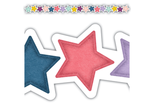 Teacher Created Resources Oh Happy Day Stars Die-Cut Border Trim *