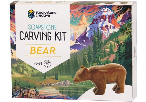studiostone creative Soapstone Carving Kit - Bear