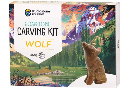 studiostone creative Soapstone Carving Kit - Wolf