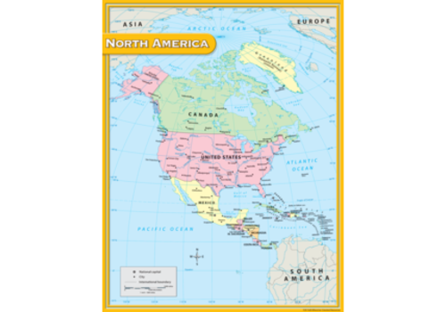 Teacher Created Resources North America Map Chart *