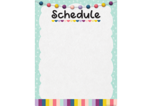 Teacher Created Resources Oh Happy Day Schedule Write-On/Wipe-Off Chart *