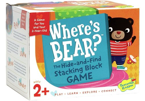 PEACEABLE KINGDOM Where's Bear?  The-Hide-and-Find Stacking Block Game*