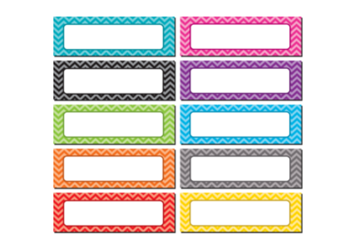 Teacher Created Resources Chevron Magnetic Labels Write-On/Wipe Off *