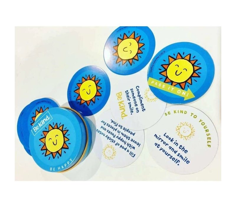 Be Kind.  Little Acts of Kindness for Kids 18 cards in each tin*