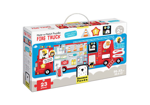 Banana Panda Make-a-Match Fire Truck  Puzzle*
