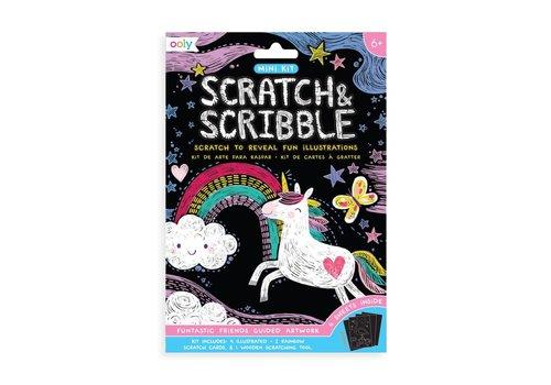 ooly Mini Scratch & Scribble Art Kit:  Funtastic Friends (7 pc set) *