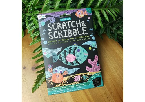 ooly Mini Scratch & Scribble Art Kit:  Friendly Fish (7 pc set) *
