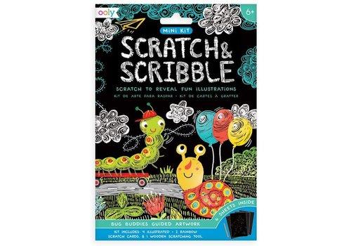 ooly Mini Scratch & Scribble Art Kit:  Bug Buddies (7 pc set) *