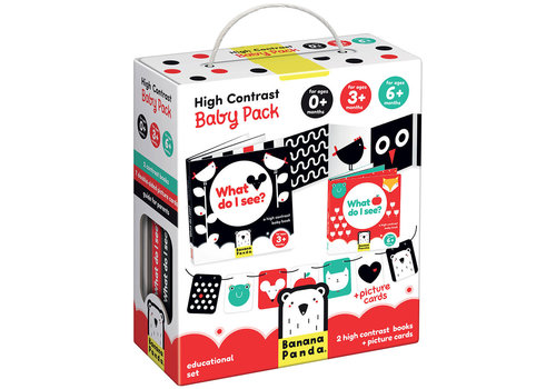 Banana Panda High Contrast Baby Pack - 2 books + picture cards*