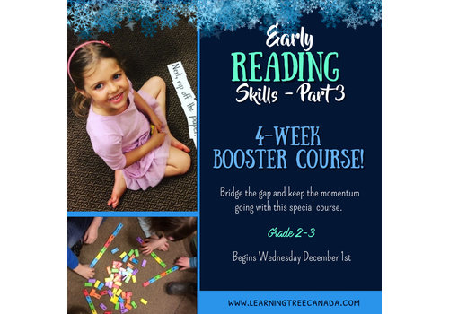 Early Reading Skills  - Part 3:   4-Week Booster Wednesdays 6:45-7:45pm*