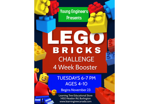 Young Engineer LEGO Bricks Challenge  Booster Tuesdays 6-7 FALL