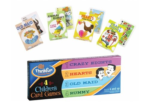 THINK FUN 4 Children's Card Games *