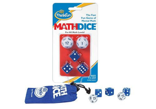 THINK FUN Math Dice - The Fast, Fun Math Game of Mental Math