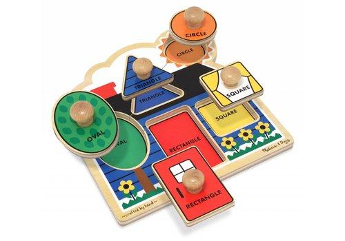 Melissa & Doug First Shapes Jumbo Knob Puzzle