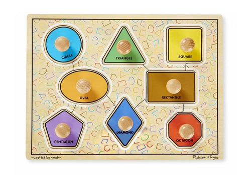Melissa & Doug Large Geometric Shapes Jumbo Knob Puzzle