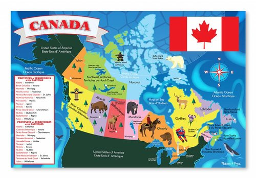 Melissa & Doug Canadian Map Floor Puzzle
