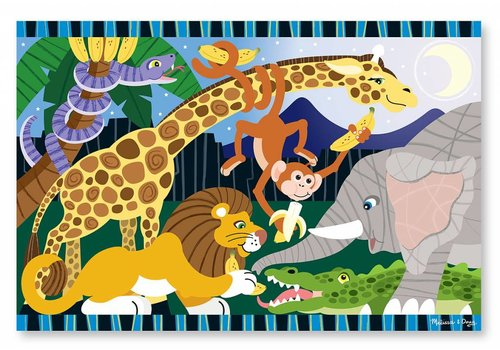 Melissa & Doug Safari Social Floor Puzzle