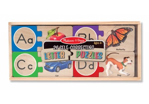 Melissa & Doug Self-Correcting A-Z Letter Puzzles *