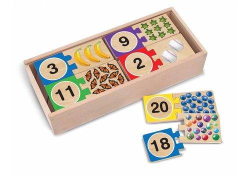 Melissa & Doug 1-20 Self-Correcting Number Puzzles