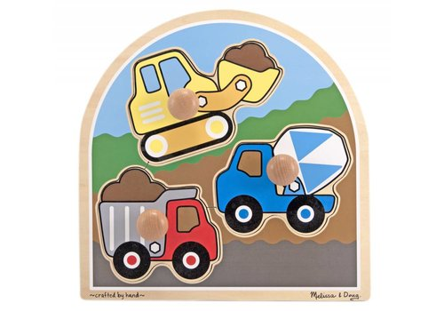 Melissa & Doug Construction Knob Puzzle