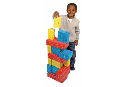 Melissa & Doug Jumbo Cardboard Blocks- Set of 24