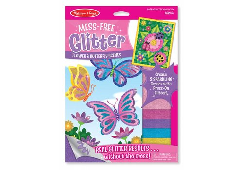 Melissa & Doug Flower and Butterfly Scenes Mess-Free Glitter