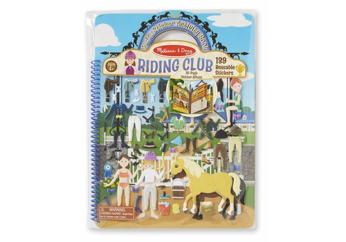 Melissa & Doug Riding Club Reusable Puffy Sticker Activity Book