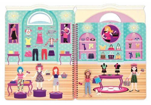 Melissa & Doug Day of Glamour Reusable Puffy Sticker Activity Book