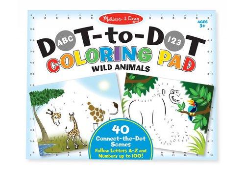 Melissa & Doug Dot to Dot Coloring Pad Wild Animals