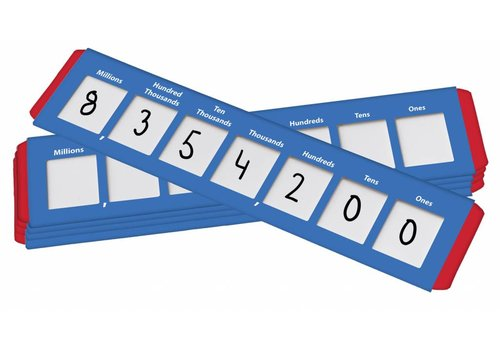 Didax Place Value Sliders: Ones to Millions, set of 10