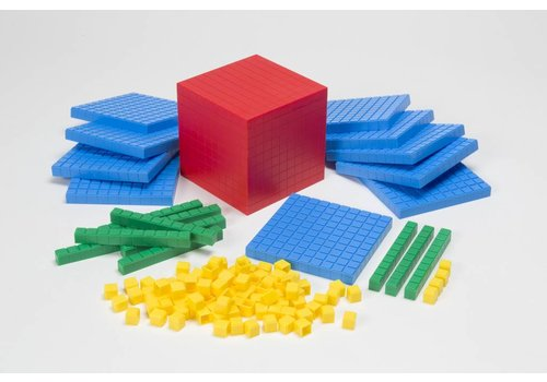 Didax Interlocking Base Ten Blocks, 121 pcs