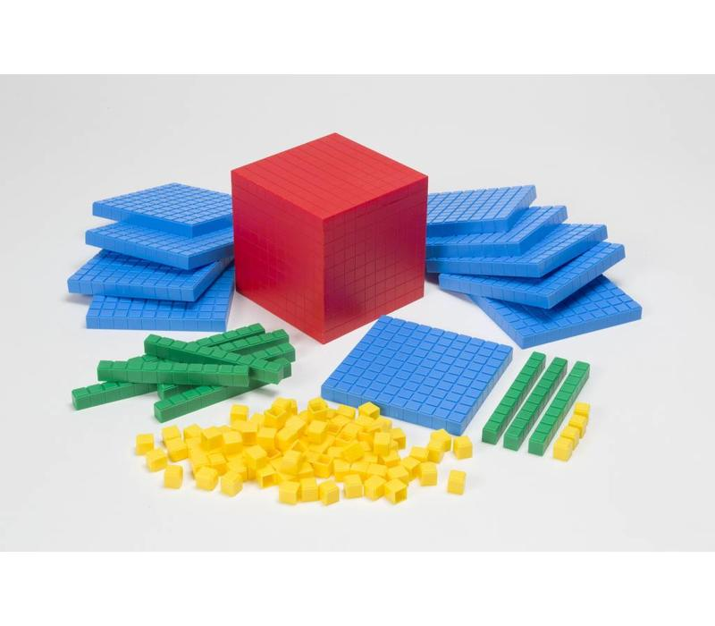 Interlocking Base Ten Blocks, 121 pcs