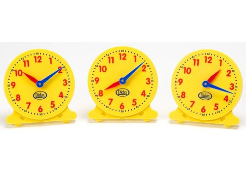 Didax 12-Hour Student Clock, set of 6