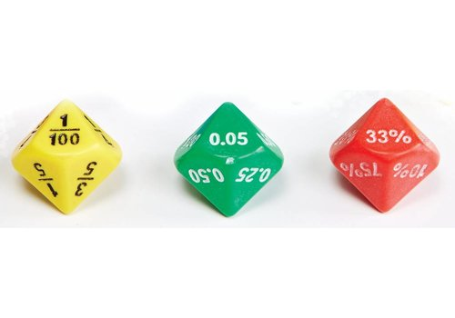 Didax Jumbo Equivalence Dice, 10 sided, set of 6