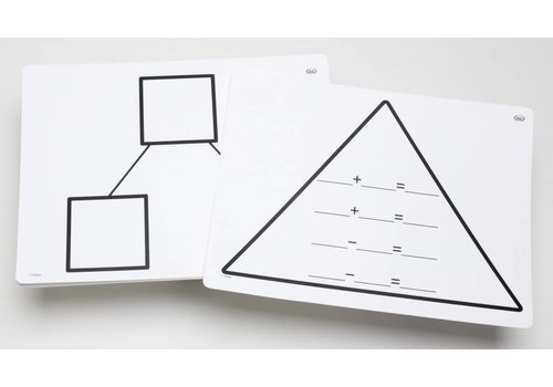 Didax Write-On/Wipe-Off Fact Family Triangle Mats: Addition