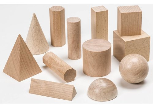 Didax Wooden Geometric Solids