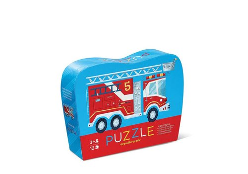 Crocodile Creek 12 pc Mini Puzzle/Fire Truck