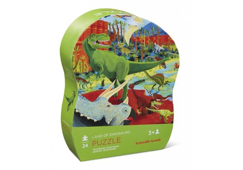 Crocodile Creek 24 pc Mini Puzzle/Land of Dinosaurs