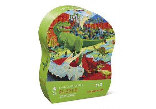 Crocodile Creek 24 pc Mini Puzzle/Land of Dinosaurs