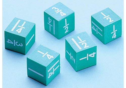 Didax Easyshapes Fraction Dice, set of 5